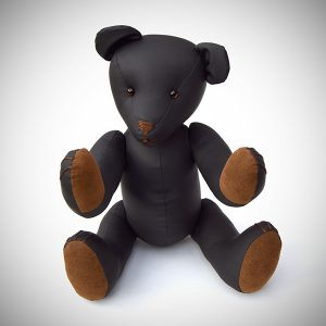 Black Kinky Teddy Bear with brown paws