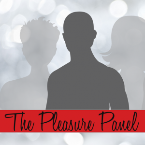 Silhouette of a man with red banner reading The Pleasure Panel