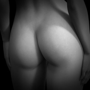 Black and white photo of a womans bottom to illustrate fasciae sitting